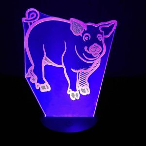 3D светильник Свинья