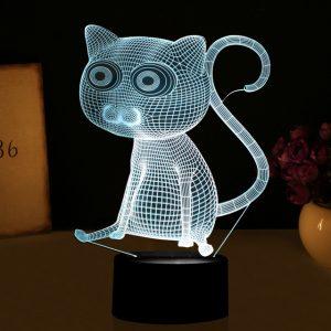 3D светильник Кот