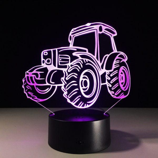3D светильник Трактор
