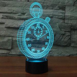 3D светильник Секундомер