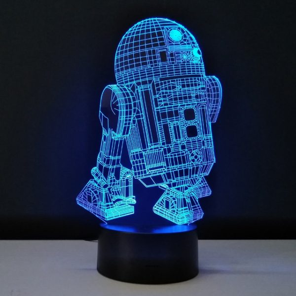 3D светильник Робот R2D2