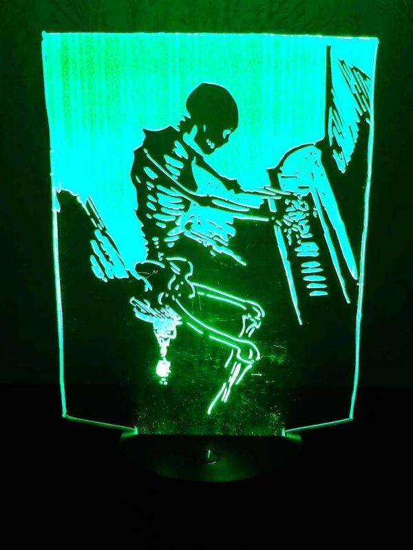 3D светильник Скелет с пианино