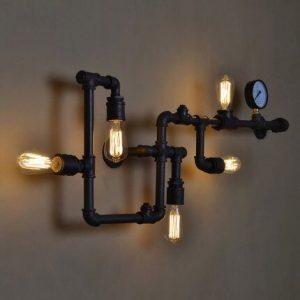 Лофт светильник из труб